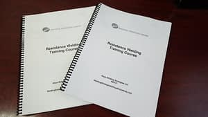 Resistance Welding Training Courses - Training Manuals